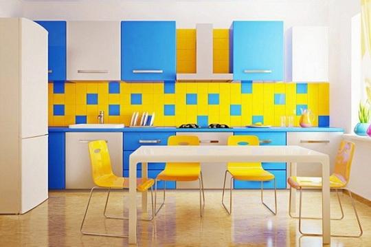 Как сочетаются разноцветные керамические плитки в домашнем дизайне5