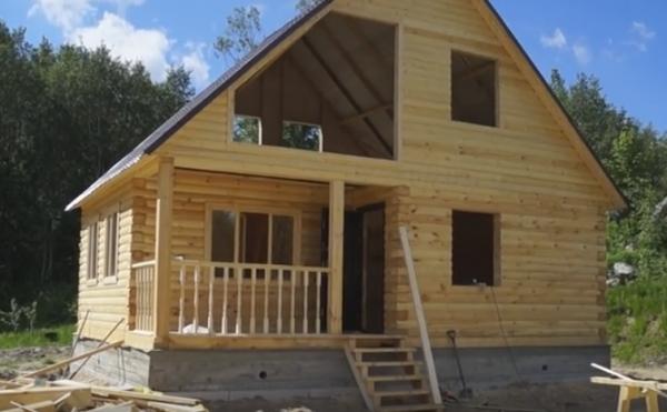 Строим брусовый дом своими руками