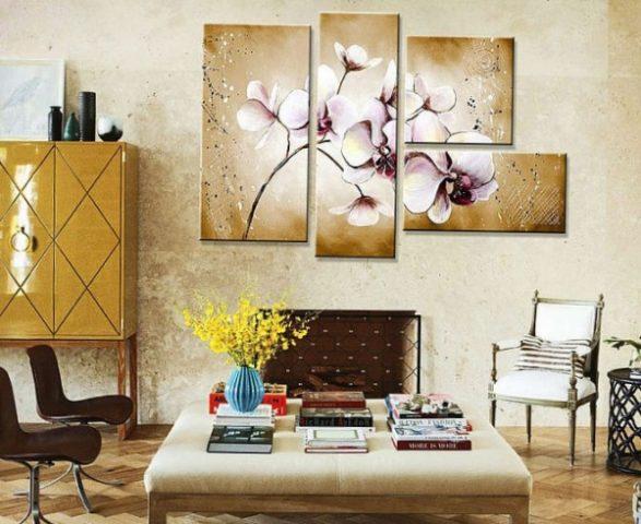 Модульные картины — яркий штрих в интерьере
