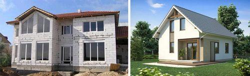 Простые дома из пеноблоков: проекты и цены, фото готовых домов