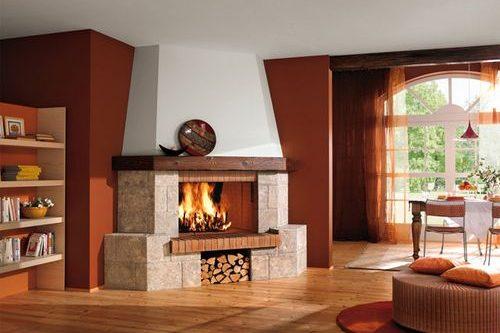 Угловые камины в интерьере гостиной – душевное тепло в доме