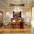 Отделка гостиной: оформление стен, потолка и пола (фото)