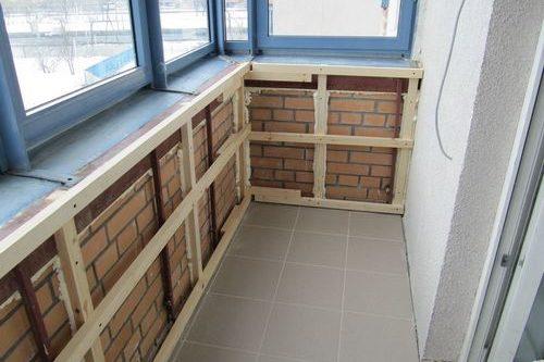 Обрешетка балкона: выполнение работ