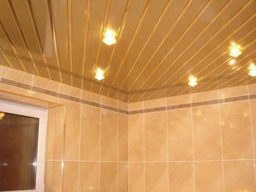 Реечный потолок для ванной: современно, красиво и функционально