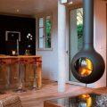 Подвесной камин: своими руками для загородного дома, фото