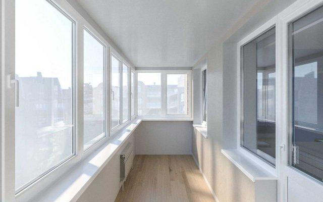 Остекление балконов пвх-окнами