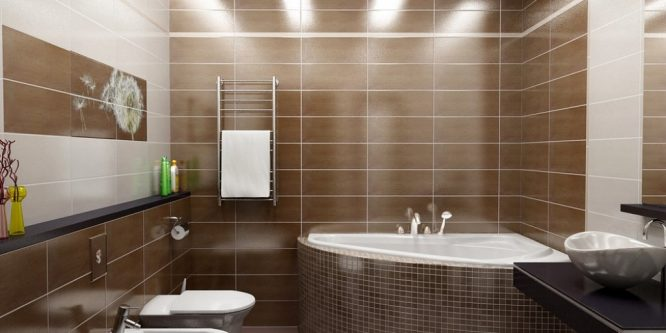 Отделка ванной комнаты в деревянном доме, лучшие варианты