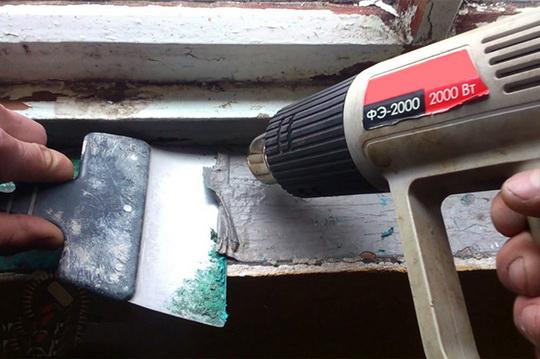 Как снять краску со стен и потолка