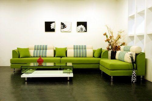Интерьер в зеленых тонах: выбираем напольное покрытие