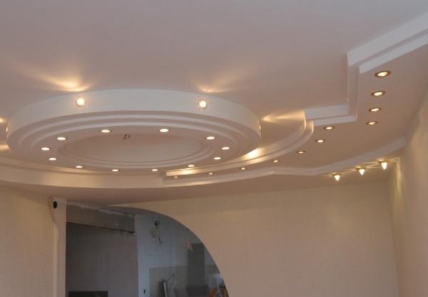 Двухуровневый подвесной гипсокартонный потолок своими руками