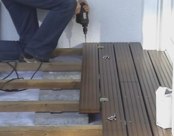 Строим террасу из лиственницы, пошаговый монтаж
