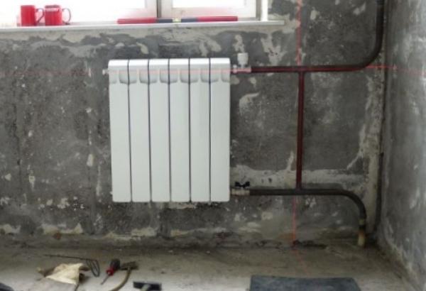 Самостоятельная установка радиаторов отопления