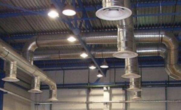 Система вентиляции в промышленности