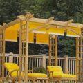 Строительство деревянной перголы