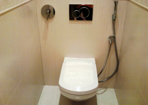 Гигиенический душ для туалета - монтаж, преимущества и недостатки