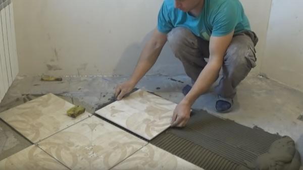 Укладываем напольную плитку самостоятельно