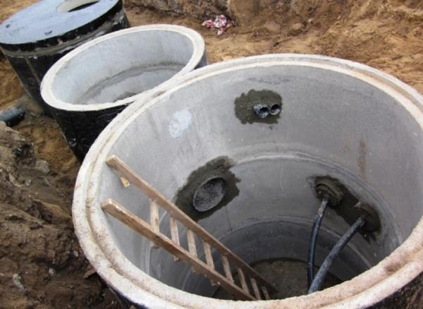Монтаж телефонных колодцев кабельной канализации