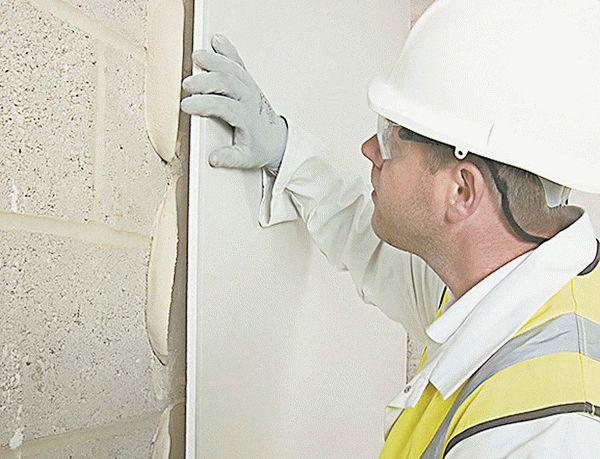 Гипсокартон на стены без каркаса и профиля: клеевая отделка