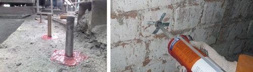 Химический анкер для бетона: применение, монтаж Fischer и Хилти