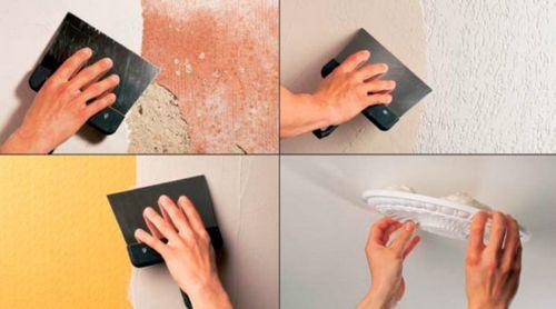 Нанесение шпаклевки на стену краскопультом: можно ли