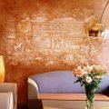 Как правильно и красиво отделать стену с помощью декоративной краски