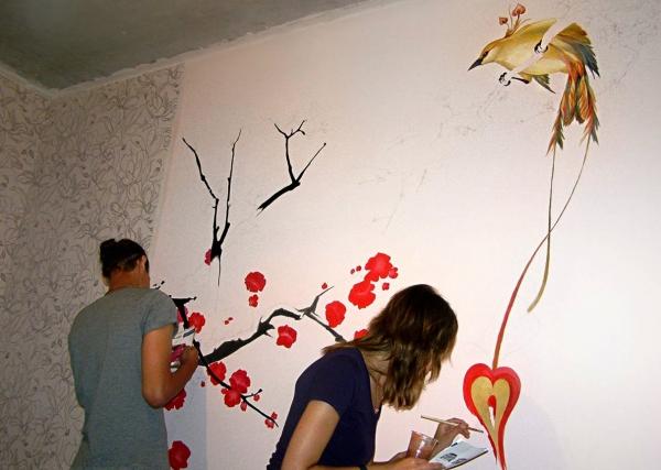 Как расписать стену своими руками