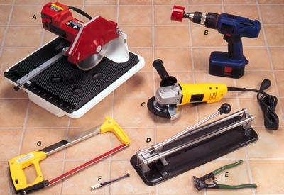 Инструменты и материалы для плиточных работ