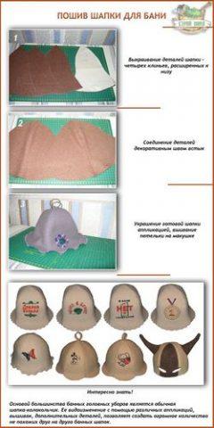 Как свалять или сшить шапку для бани своими руками