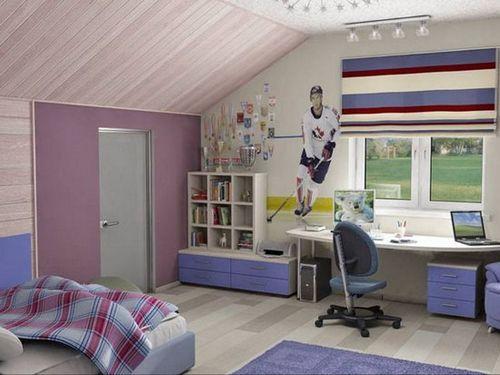 Детская в мансарде: выбор дизайна интерьера, мебели, особенности оформления
