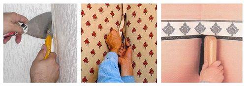 Как клеить обои в углах: покрытия с рисунком и без, инструкция
