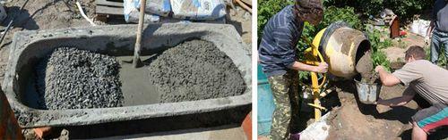 Сколько цемента в 1 кубе бетона разных марок: таблица, состав