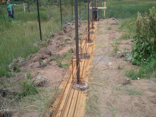 Как сделать забор из профнастила, установка и размеры
