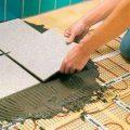 Укладка плитки на теплый пол своими руками: видео-инструкция