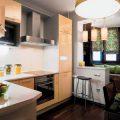 Кухня 9 кв м дизайн с балконом: варианты интерьера, расстановка