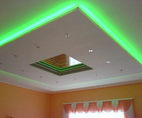 Подвесные потолки из гипсокартона своими руками с подсветкой