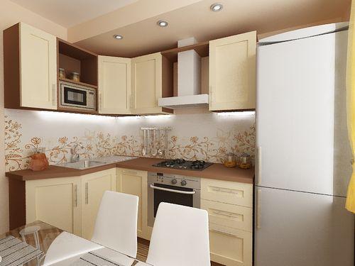 Интерьер кухни 6 кв м своими руками: мебель, освещение