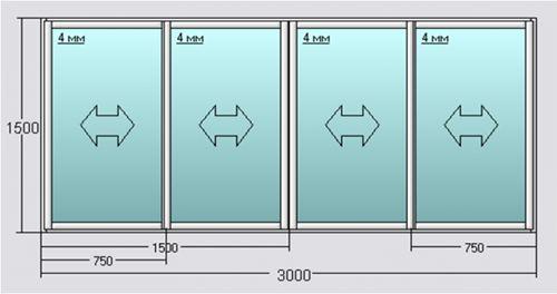 Преимущество раздвижных окон на балконе из алюминия