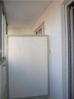 Балконные перегородки от соседей из пеноблоков и гипсокартона