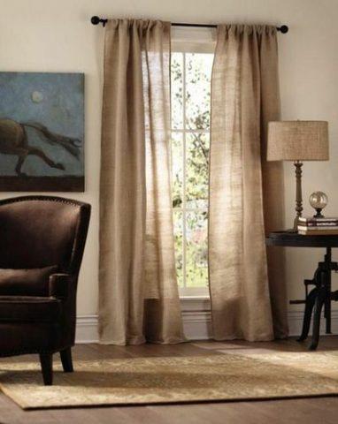 Льняные шторы (55 фото): шторы из льна в интерьере, ткань