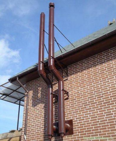 Дымоходы для газового котла в частном доме - советы
