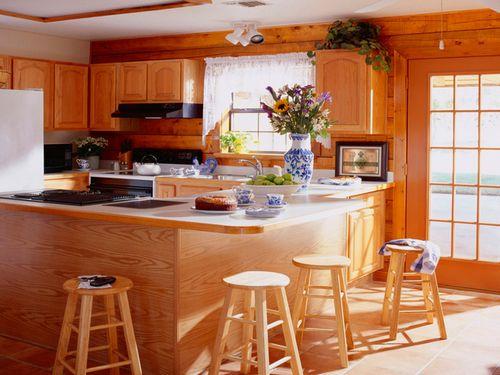 Дизайн кухни под дерево своими руками: особенности, материалы