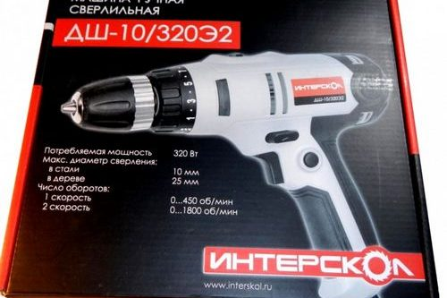 Дрель-шуруповерт Интерскол ДШ 10 320э2