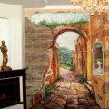 Настенные фрески в интерьере— Фото