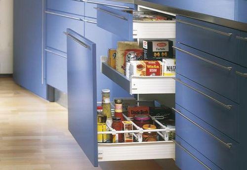 Выдвижные ящики для кухни: обеденный стол с ящиком, тумбы