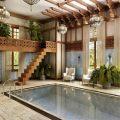 Потолок в бассейне— из чего сделать?