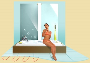 Электрический теплый пол в ванной - мощность и стоимость