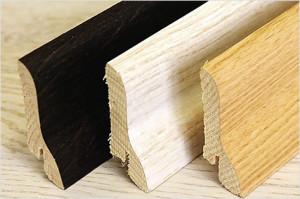Плинтуса напольные деревянные шпонированные - размеры