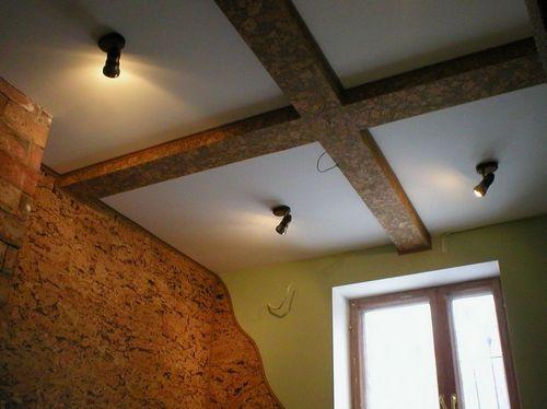 Как сделать пробковый потолок