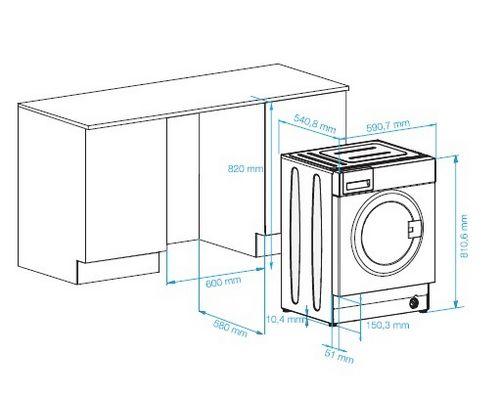Как встроить стиральную машину в кухню: этапы работ
