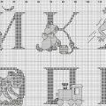 Алфавит вышивка крестом схемы: русский и английский